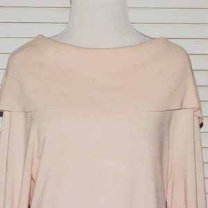 CHICO'S Pink Long Sleeved Sweater Size 2  (LARGE)